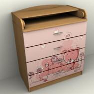 """Рисунок """"розовый мишка"""""""
