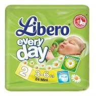 Подгузники Libero EveryDay 3-6 кг, 24 шт