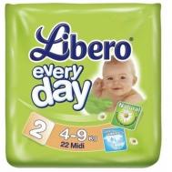 Подгузники Libero EveryDay 4-9 кг, 22 шт