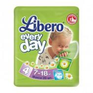 Подгузники Libero EveryDay 7-18 кг, 20 шт