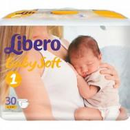 Подгузники Libero Baby Soft 2-5 кг для новорожденных, 30 шт