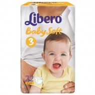 Подгузники Libero Baby Soft 4-9 кг (S), 22 шт