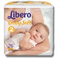 одгузники Libero Baby Soft 3-6 кг, 26 шт